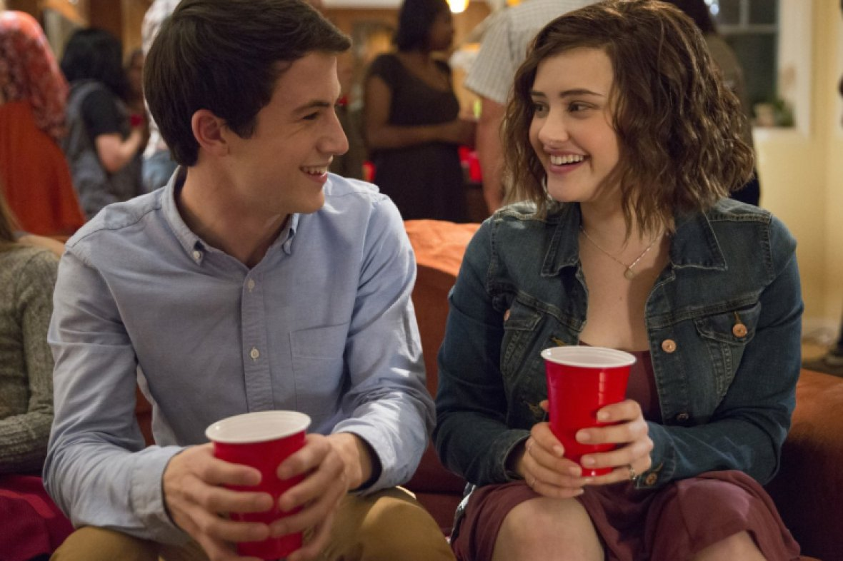dylan minnette katherine langford 13 reasons why netflix