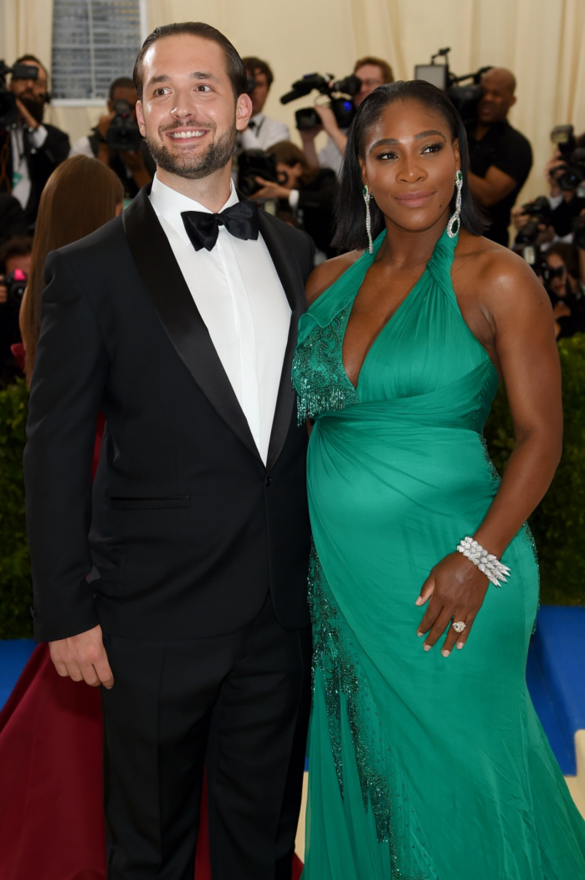 serena william alexis ohanian met gala 2017 getty
