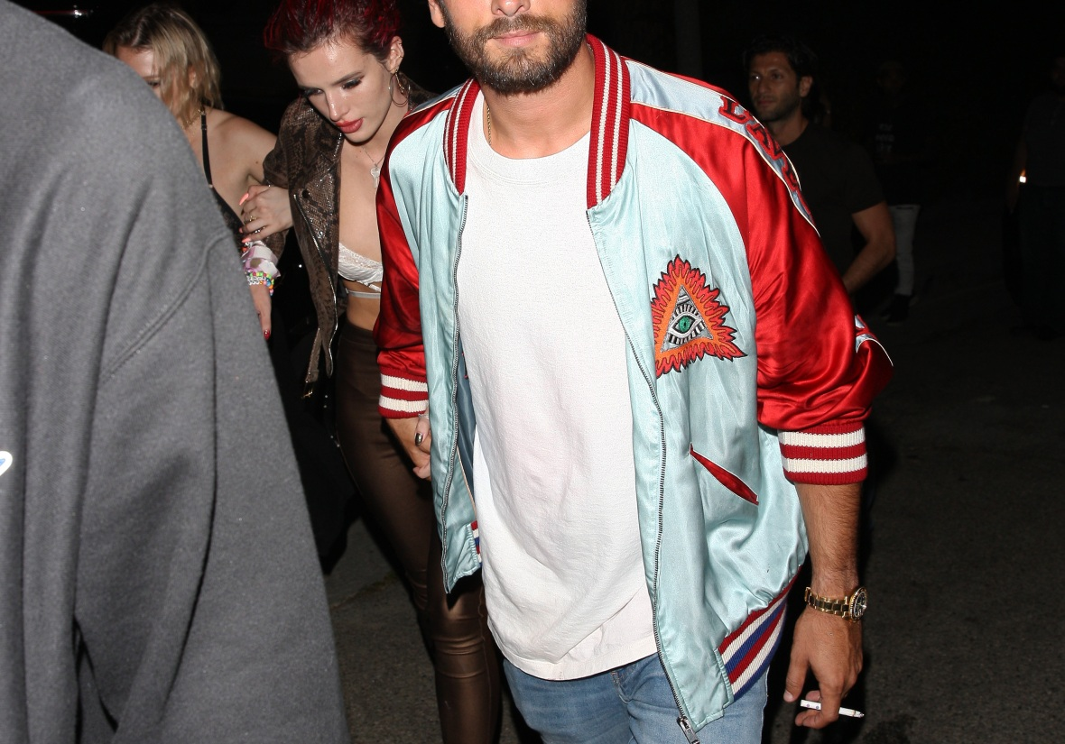 bella thorne scott disick splash