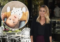 Inlet Photo of Lauren Conrad's Son Liam On Top Of Photo of Lauren Conrad At Outdoor Event