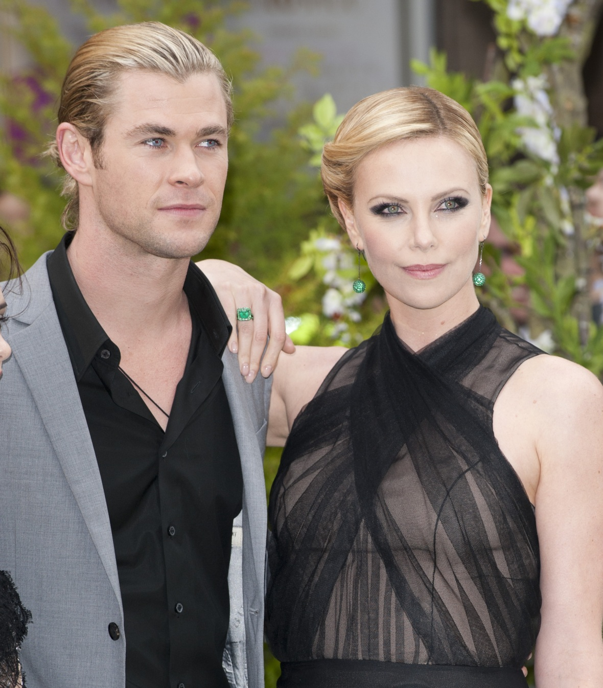 chris and charlize - getty