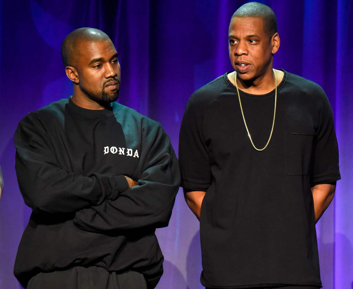 kanye west jay-z getty images