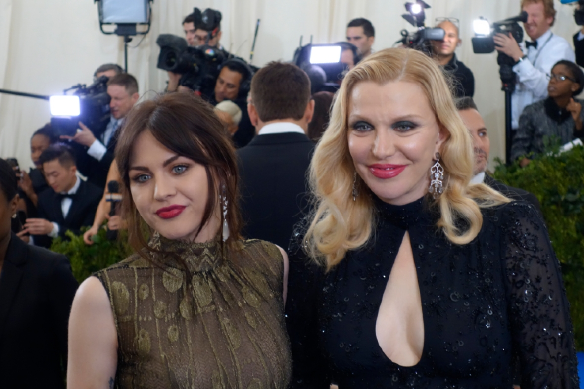 frances bean and courtney love getty
