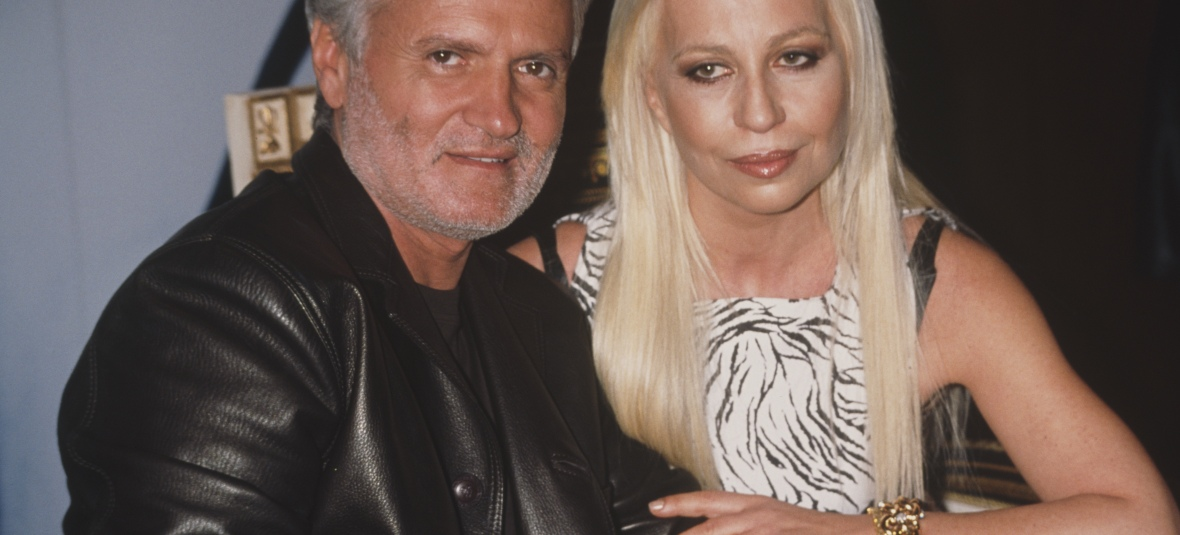 donatella with brother gianna versace getty images