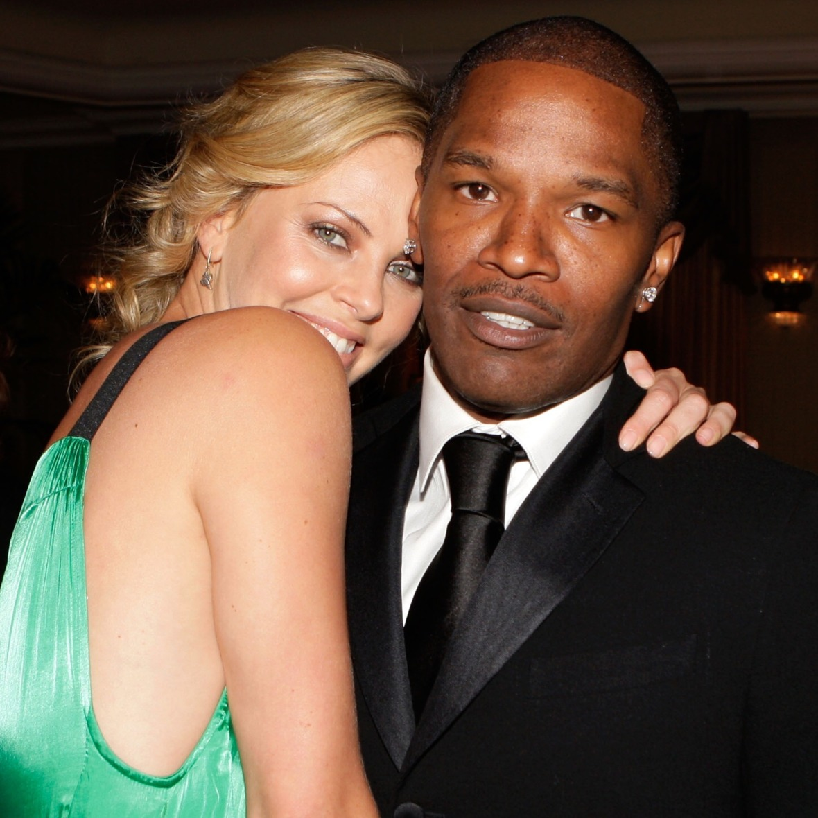 jamie foxx charlize theron getty images