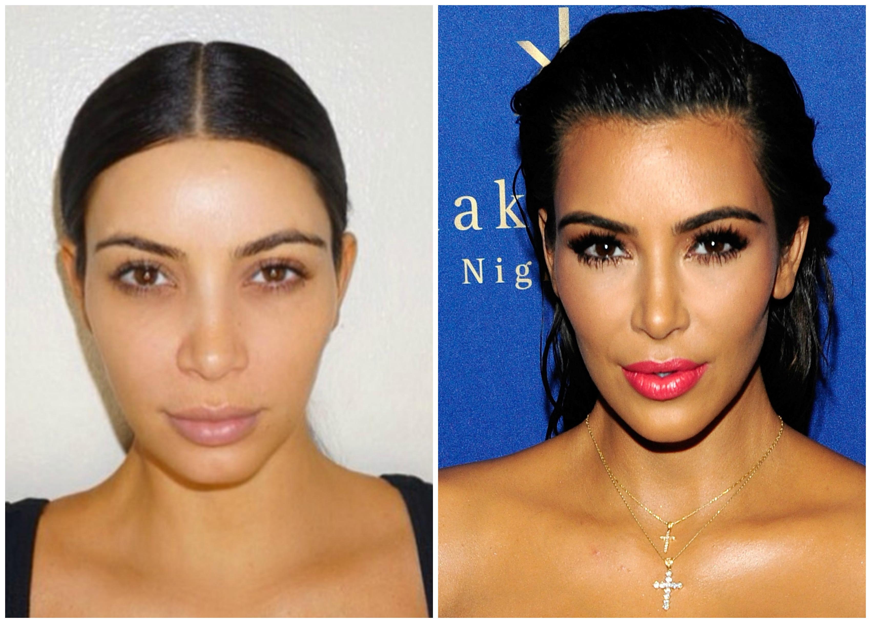 Kim Kardashian Without Makeup See The Celeb S Surprising Cosmetic Free Pics