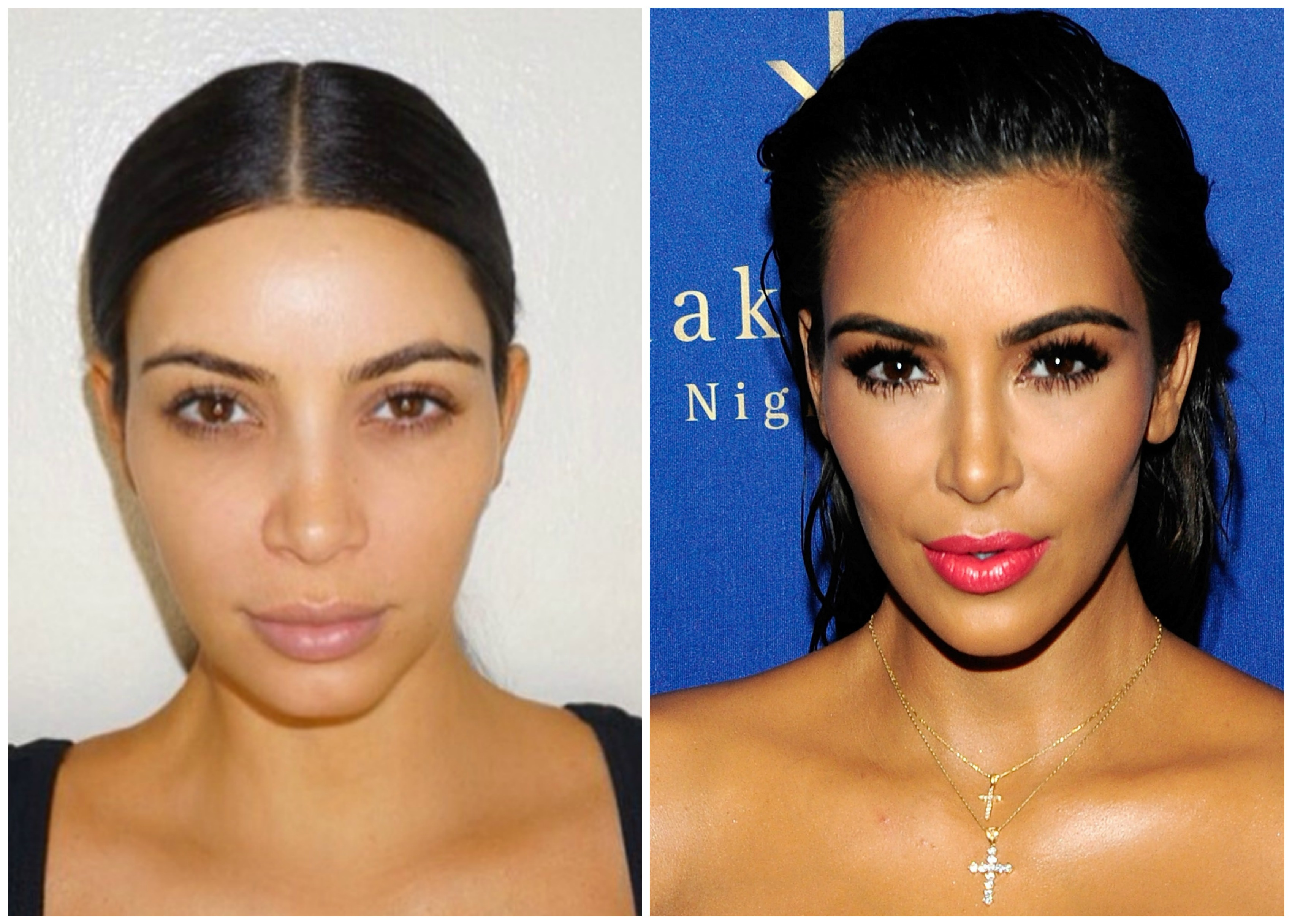 Kim Kardashian Without Makeup See The Celebs Surprising Cosmetic