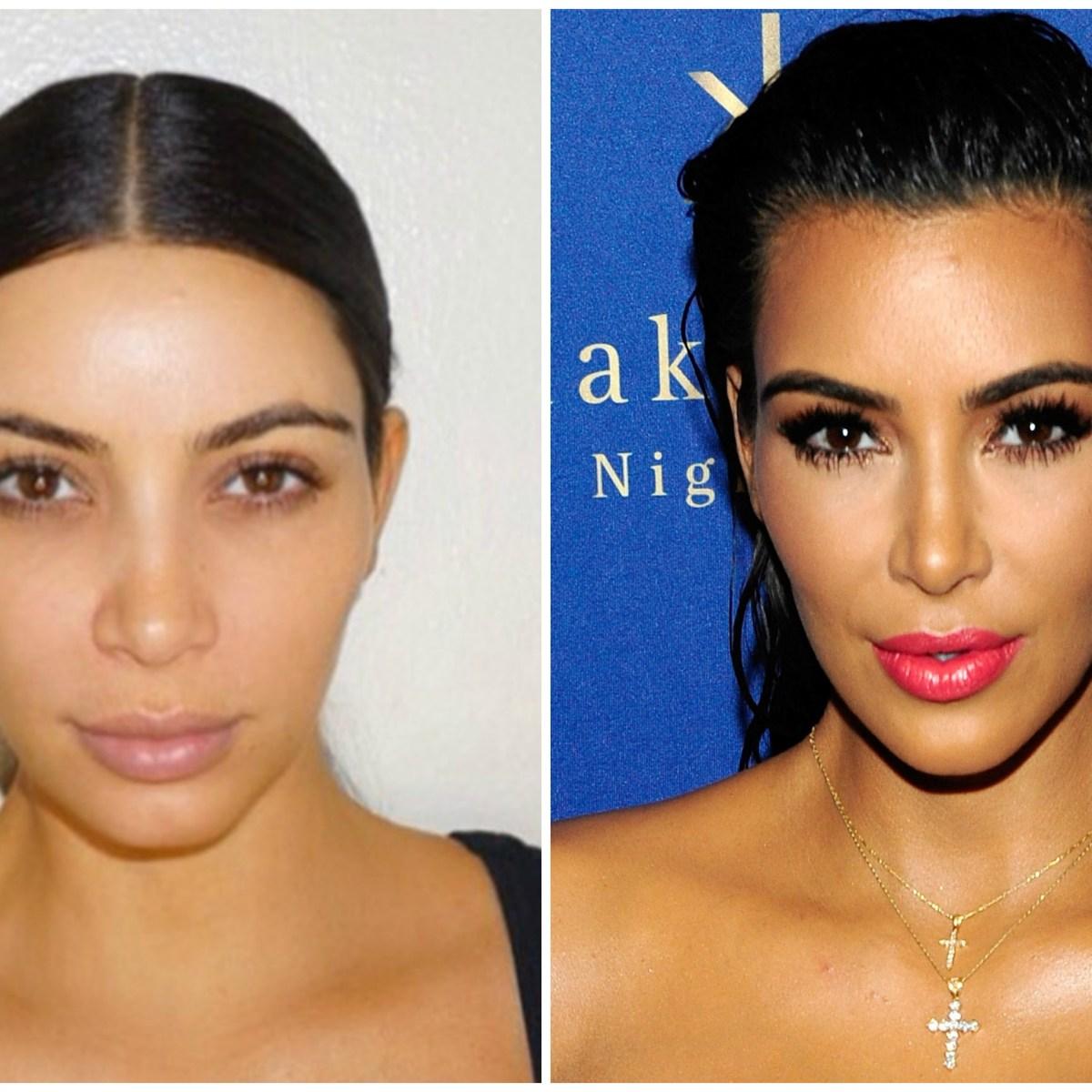 Kim Kardashian Without Makeup See The Celebs Surprising Cosmetic - Kim-k-without-makeup