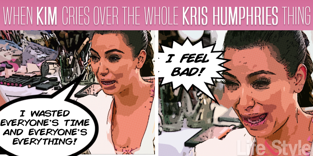 kim ugly cries over kris humphries