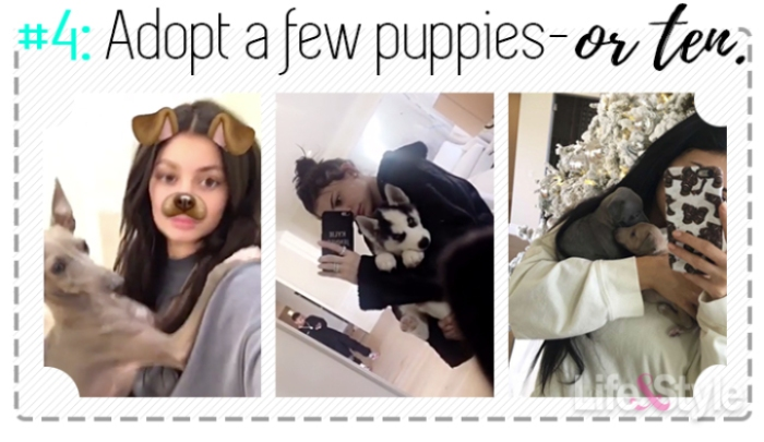 kylie jenner snapchat puppies