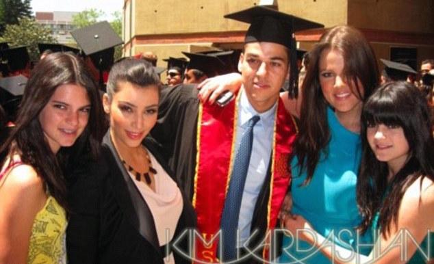 rob kardashian college graduation