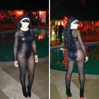 Blac Chyna Wears Sexy Nun Halloween Costume