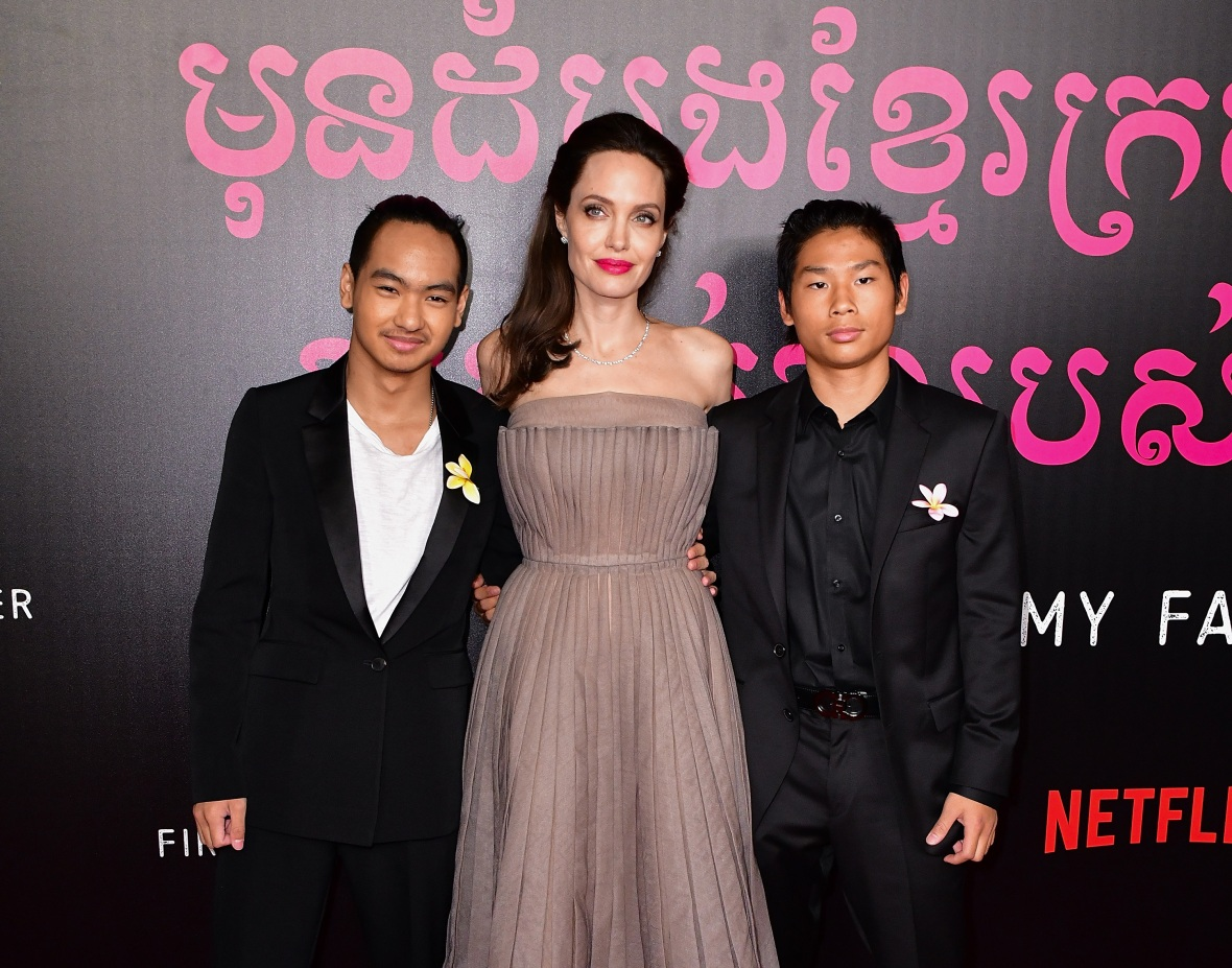 angelina jolie, maddox, pas, getty images