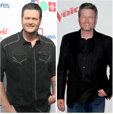 blake shelton weight loss getty