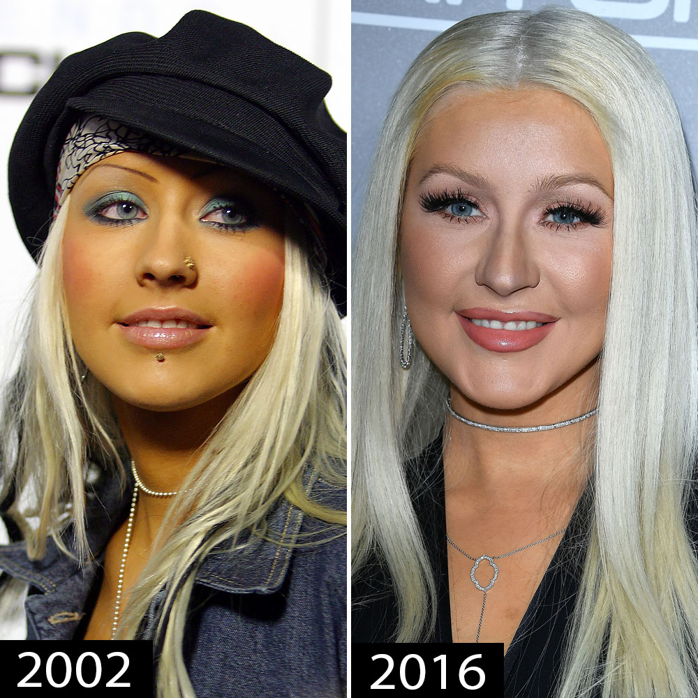 Celebrity Face Piercings You Forgot About Christina Aguilera Blac