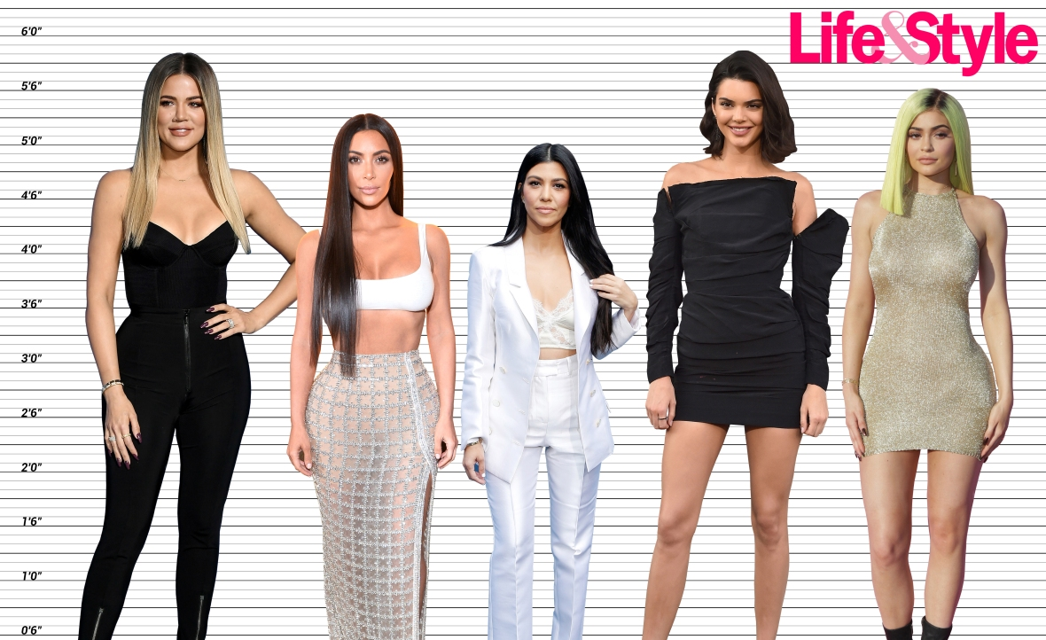 how tall are the kardashians?