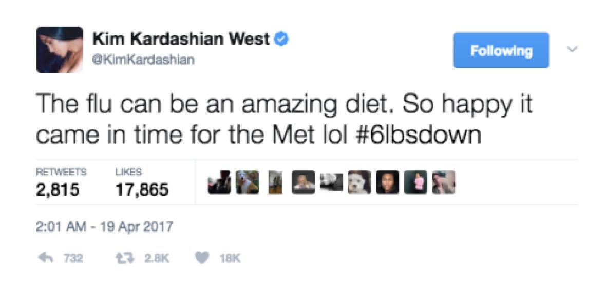 kim kardashian flu twitter