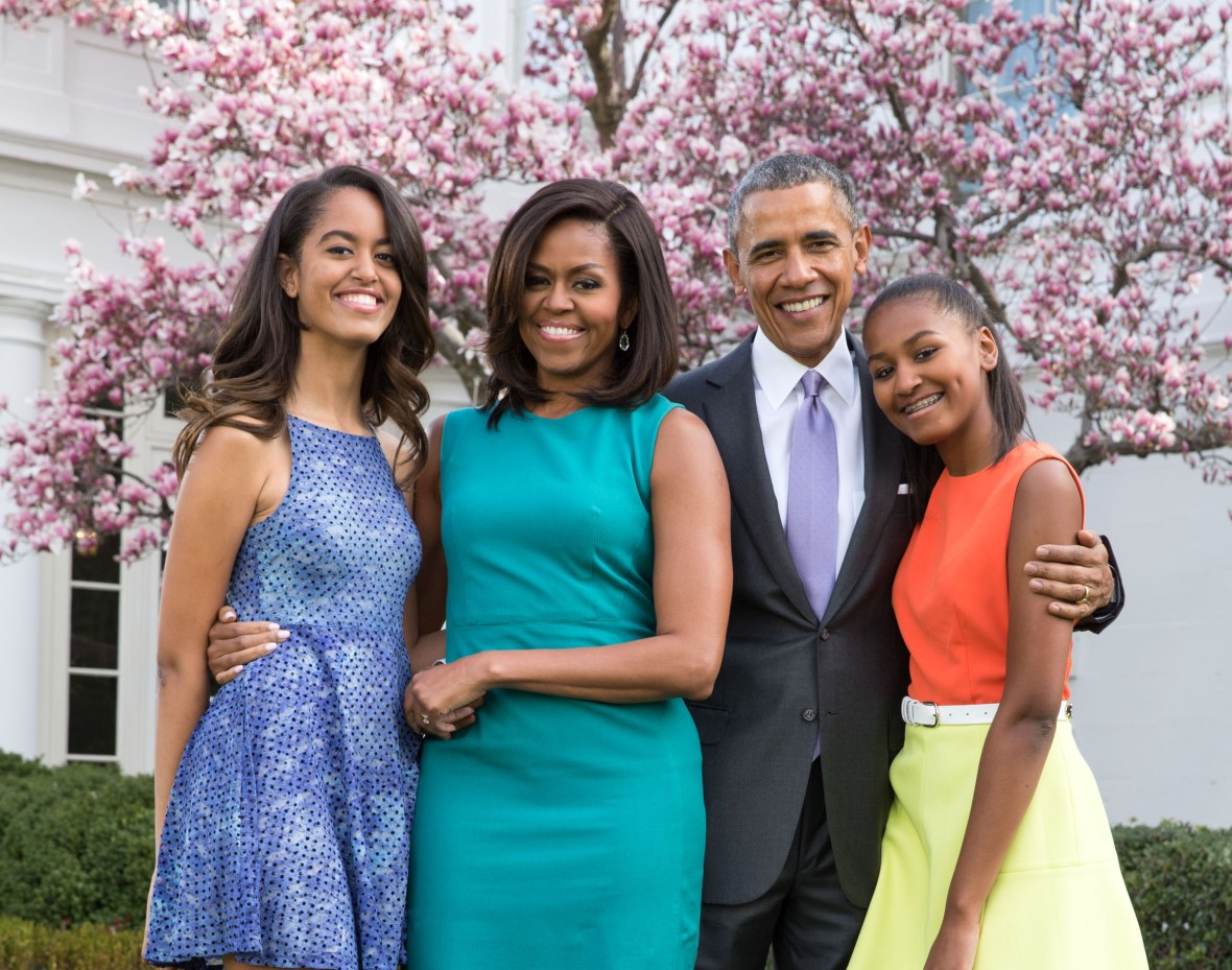 obama family getty