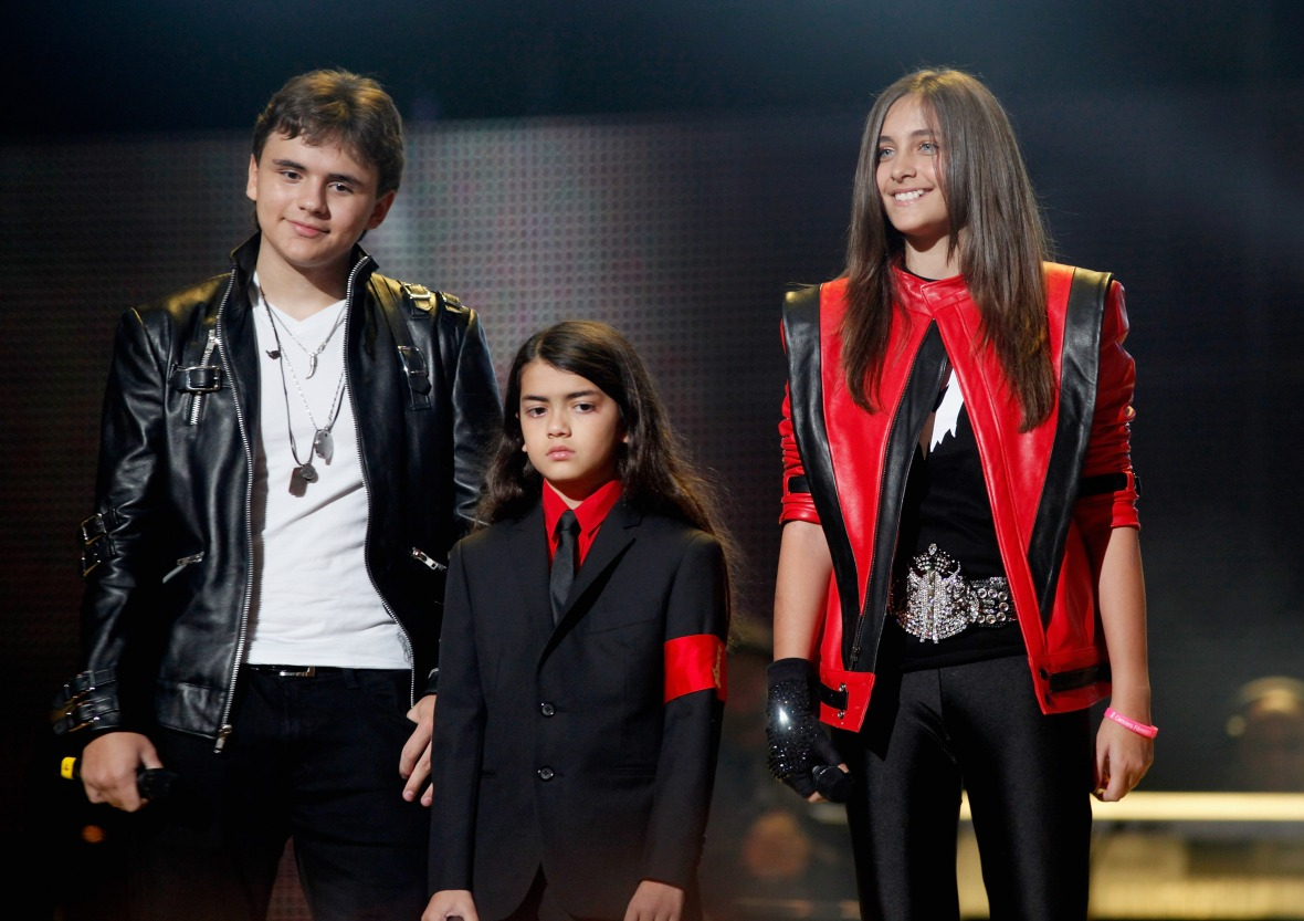 prince, paris, and blanket jackson