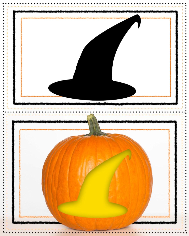 pumpkin stencil witch