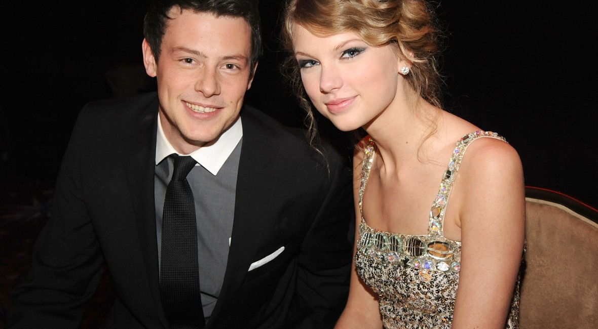 taylor swift, cory monteith, getty images
