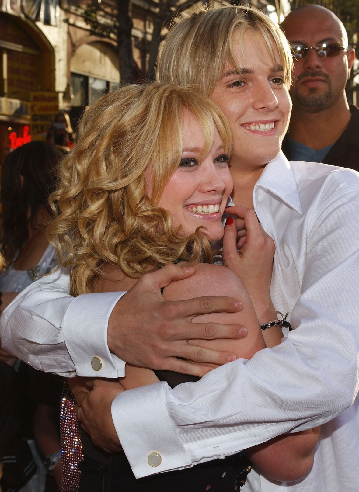 hilary duff aaron carter - getty