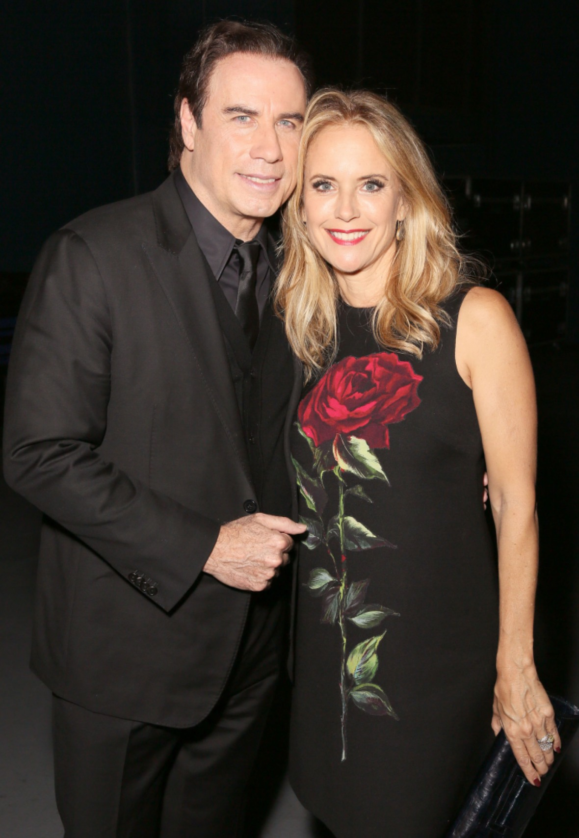 john travolta kelly preston getty images