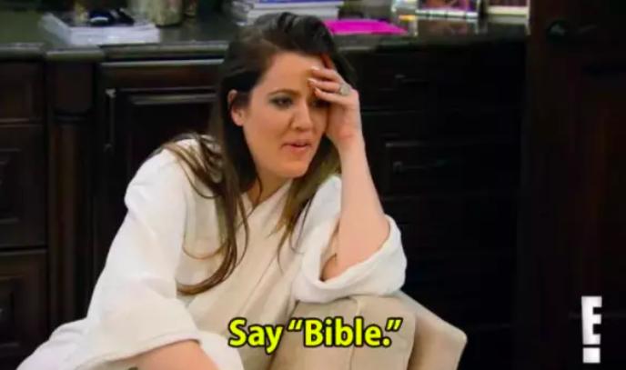 khloe kardashian bible