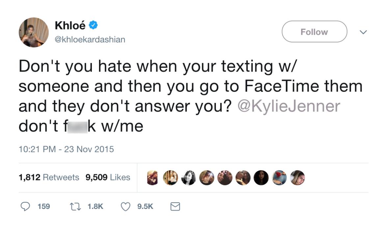 khloé kardashian kylie jenner twitter