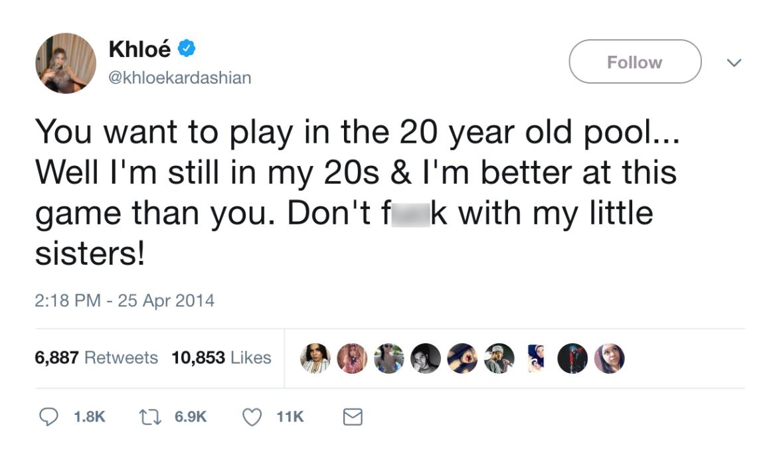 khloé kardashian twitter feud