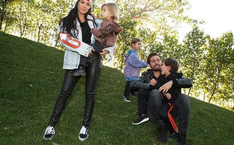 kourtney kardashian scott disick kids instagram