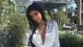 Kylie Jenner posing outside