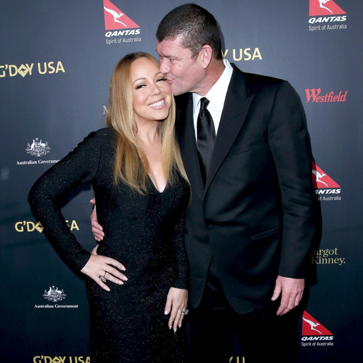 mariah carey and james packer - getty images