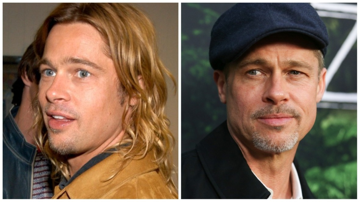 brad pitt 2003 vs 2017 getty images