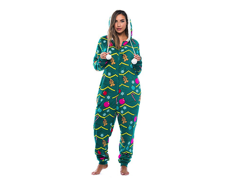 kardashian christmas pajamas amazon green onesie