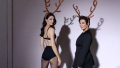 kendall-kris-christmas-lingerie