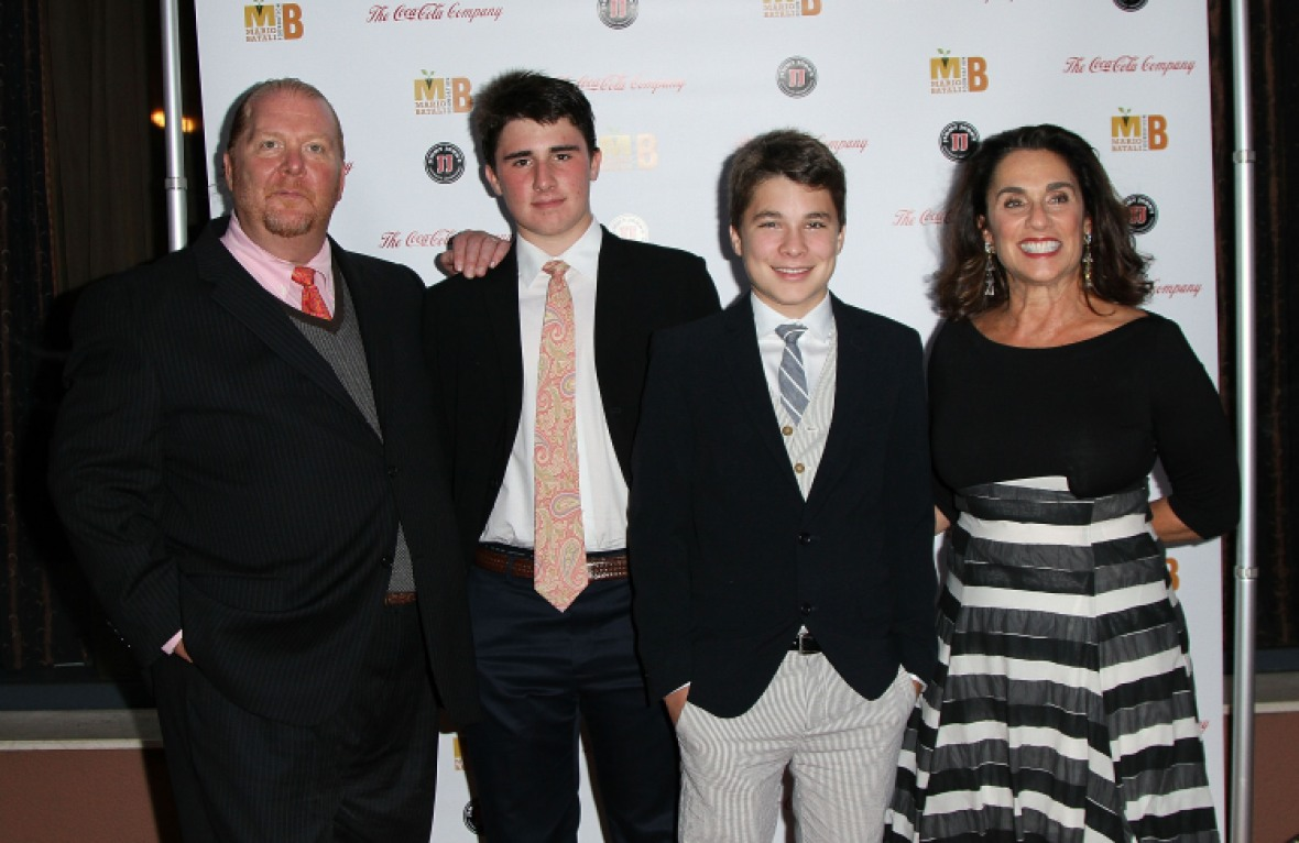 mario batali family getty images