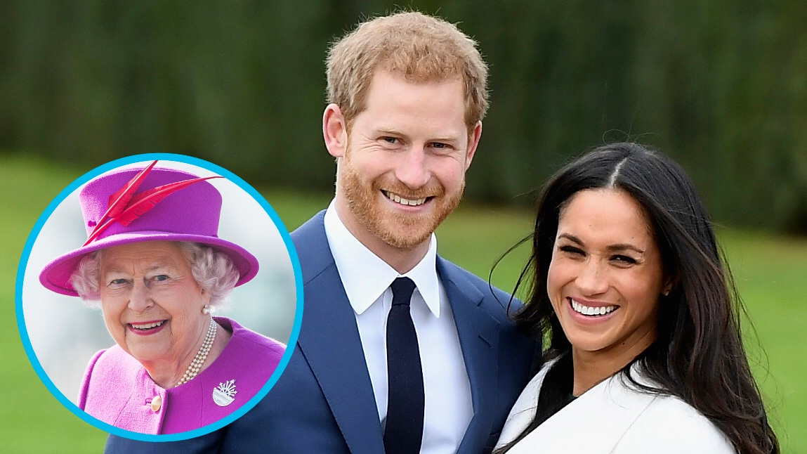 Queen Elizabeth, Prince Harry, Meghan Markle