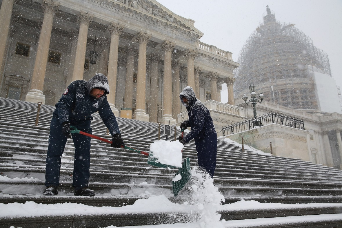shoveling snow getty images