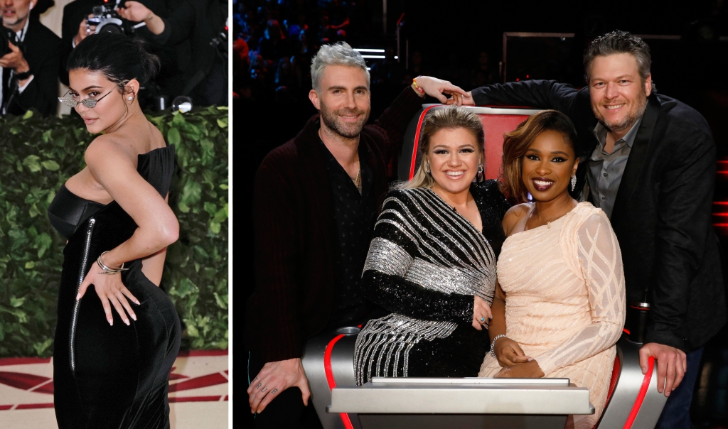 Split of Kylie Jenner and Judges on The Voice