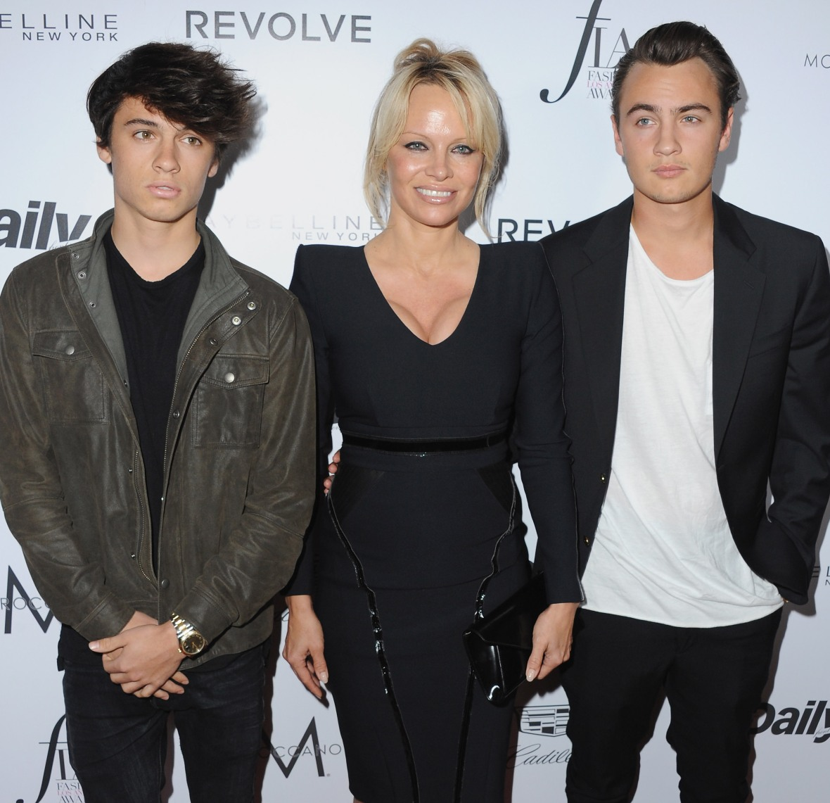 pamela anderson sons getty images