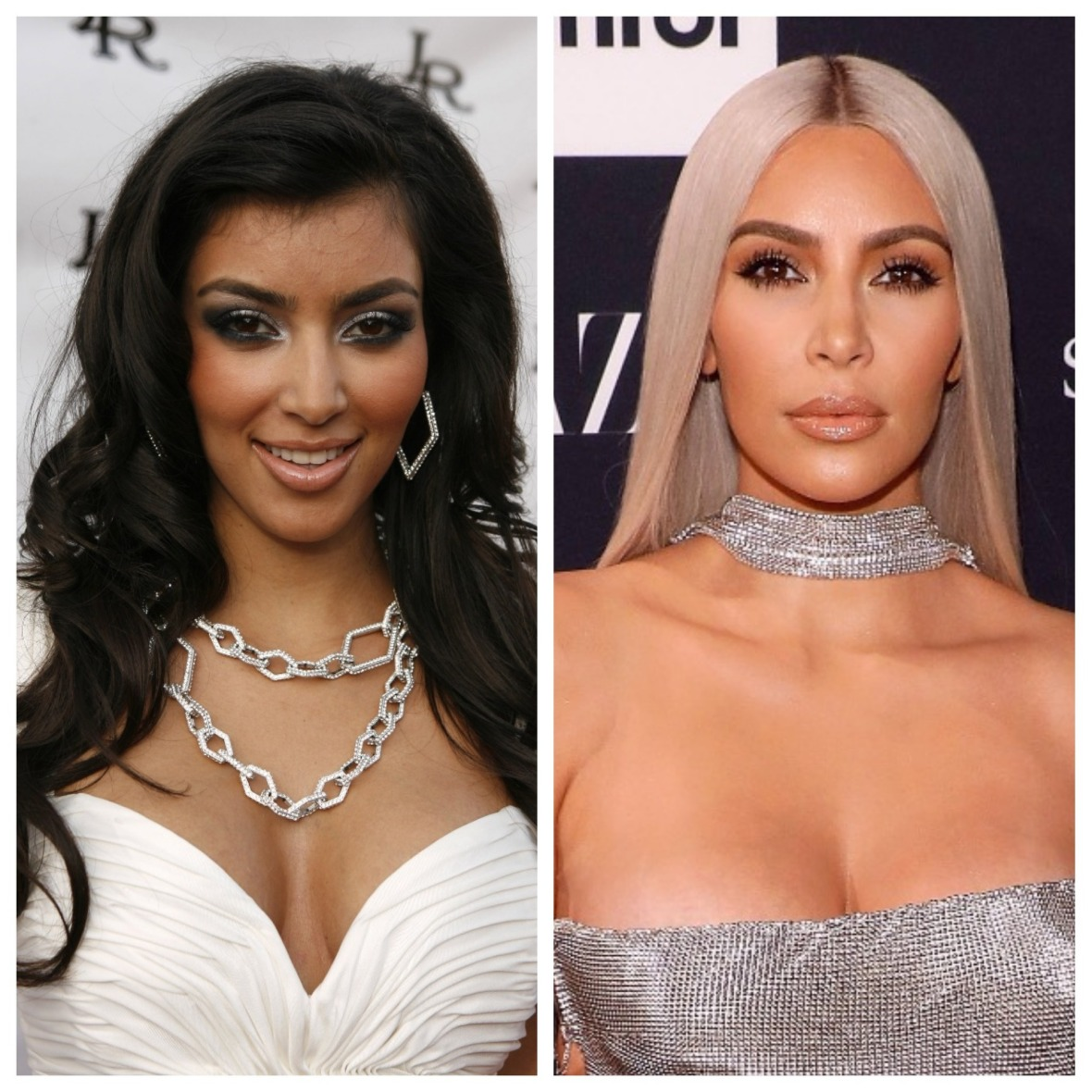 kim kardashian before and after getty images