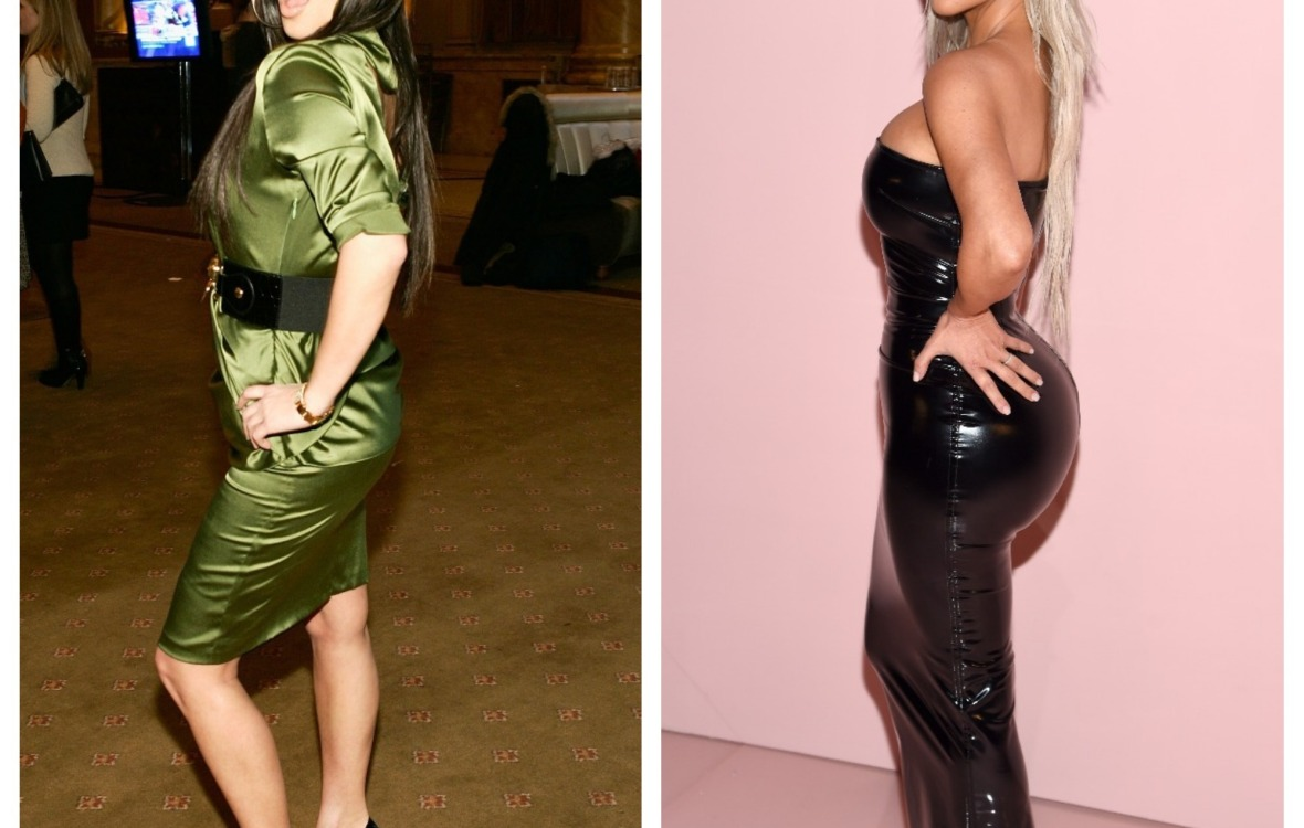 kim kardashian before and after body getty images