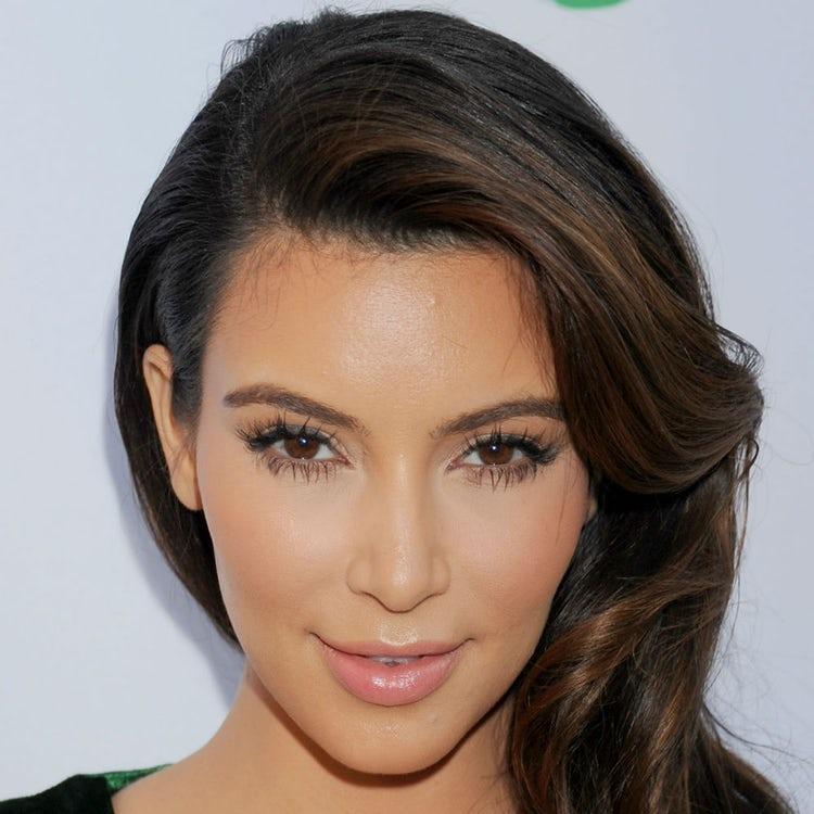 kim kardashian face 2012