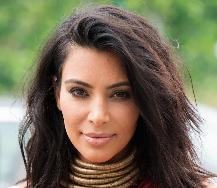 kim kardashian face 2015