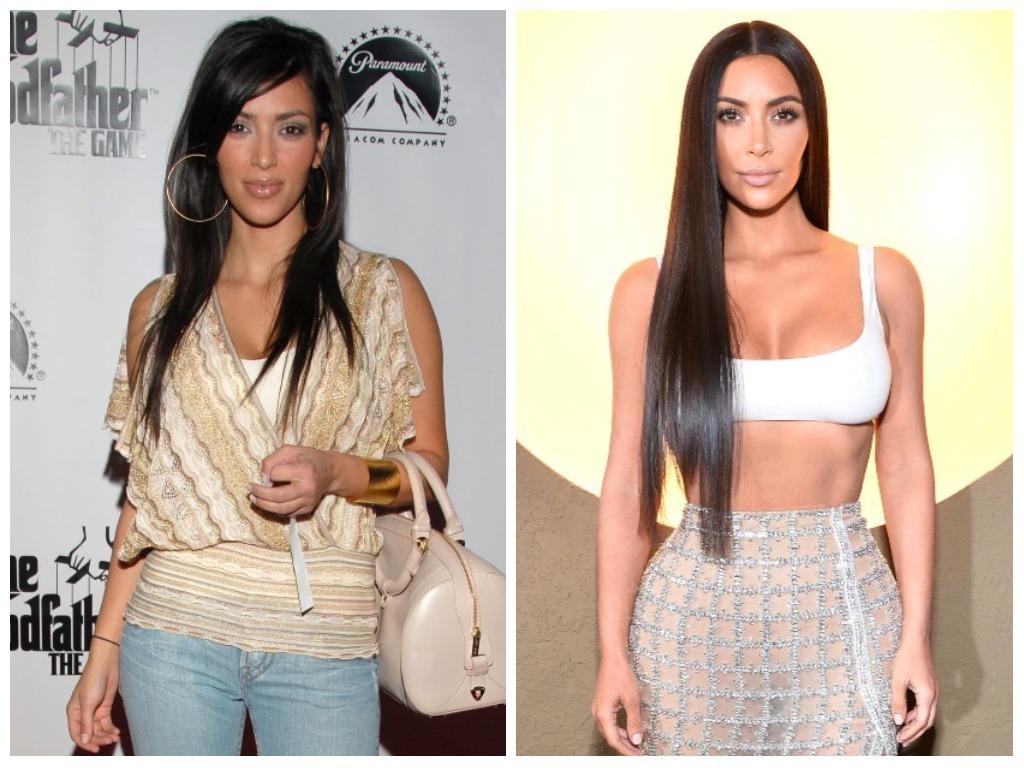 young kim kardashian vs. current kim kardashian