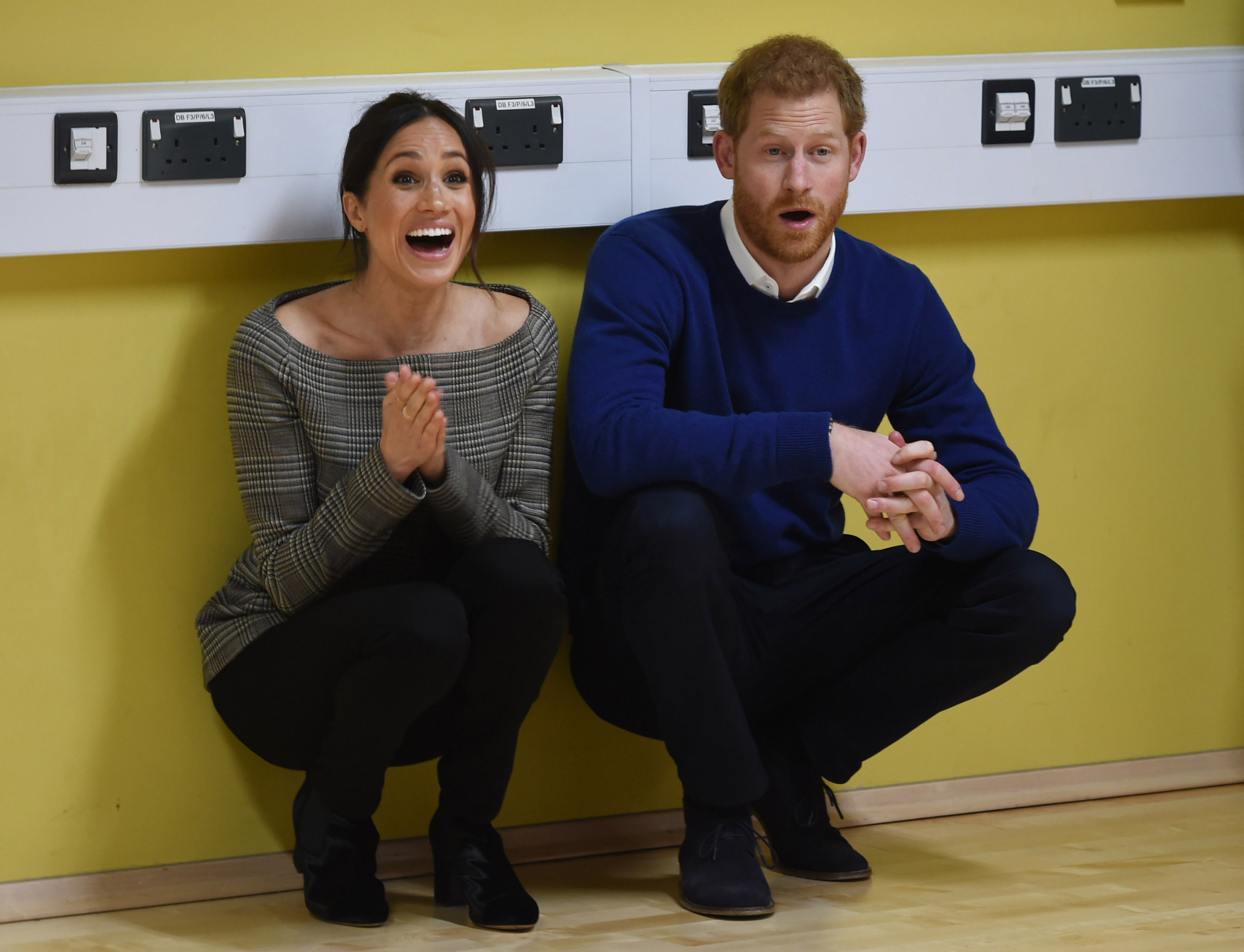 Harry and Meghan laughing together