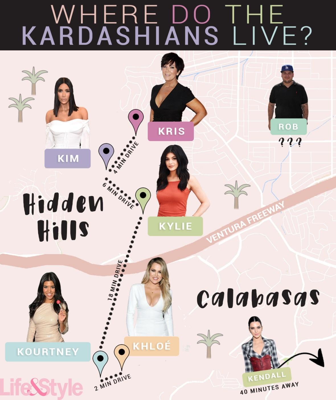 where do the kardashians live