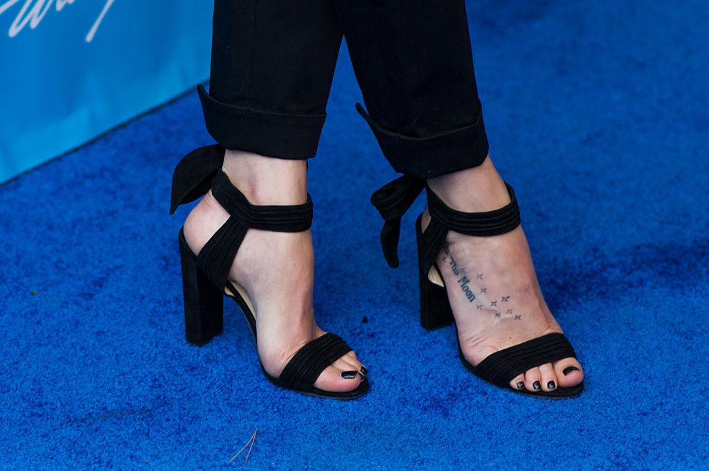 dakota johnsons foot tattoo getty images