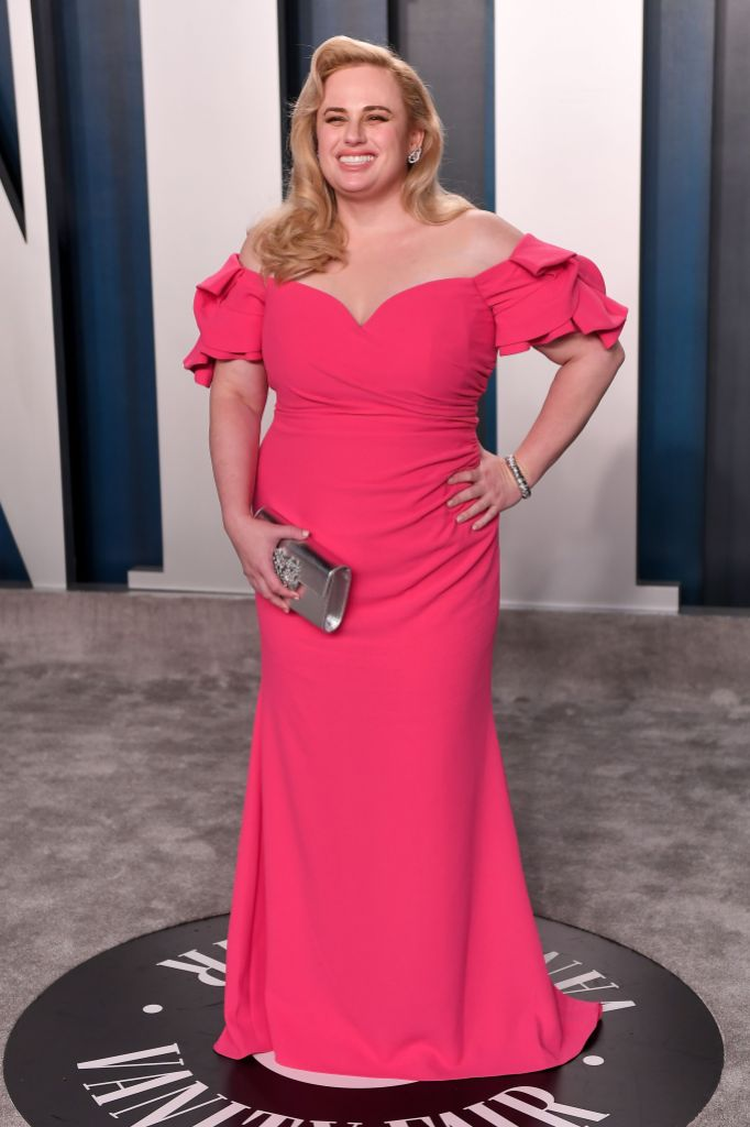 Rebel Wilson Smiles in Pink Gown at Vanity Fair Oscars After Party